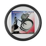 Liberty Flight Pigeon Large Wall Clock
