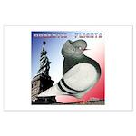 Liberty Flight Pigeon Large Poster