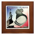 Liberty Flight Pigeon Framed Tile