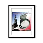 Liberty Flight Pigeon Framed Panel Print
