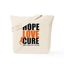 Kidney Cancer HopeLoveCure Tote Bag