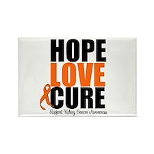 Kidney Cancer HopeLoveCure Rectangle Magnet