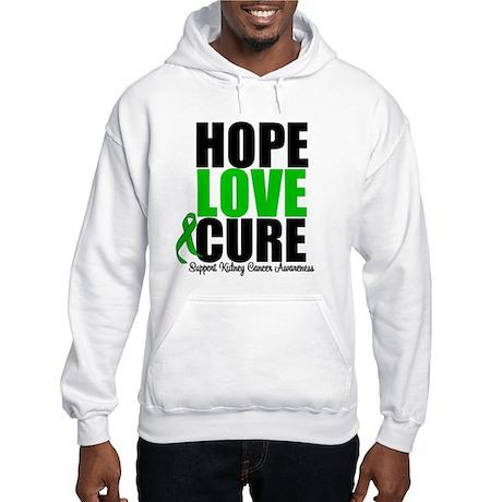 HopeLoveCure KidneyCancer Hooded Sweatshirt