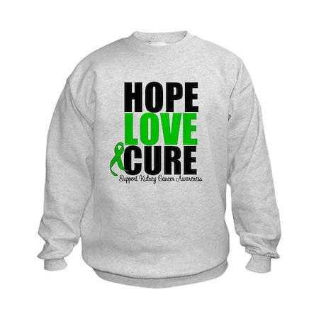 HopeLoveCure KidneyCancer Kids Sweatshirt