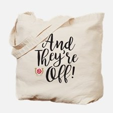 And They're Off Derby Tote Bag
