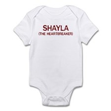 Shayla the heartbreaker Infant Bodysuit