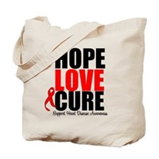 HopeLoveCure HeartDisease Tote Bag
