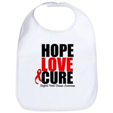 HopeLoveCure HeartDisease Bib