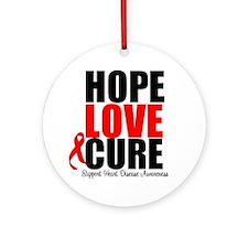 HopeLoveCure HeartDisease Ornament (Round)