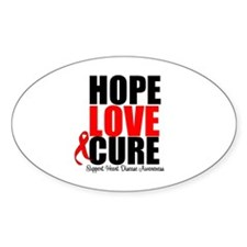 HopeLoveCure HeartDisease Oval Decal