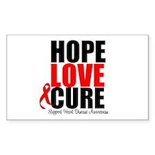 HopeLoveCure HeartDisease Rectangle Decal