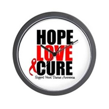 HopeLoveCure HeartDisease Wall Clock