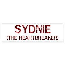 Sydnie the heartbreaker Bumper Bumper Sticker