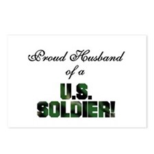 Proud Husband of a US Soldier Postcards (Package o