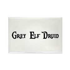 Grey Elf Druid Rectangle Magnet