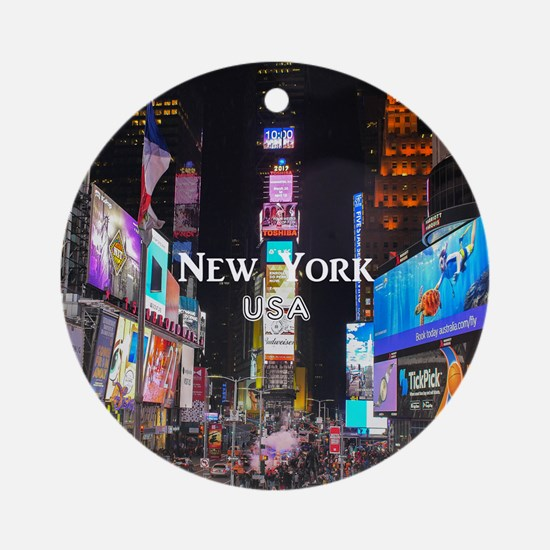 New York Round Ornament