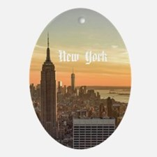New York Oval Ornament