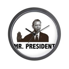 Barak Obama Mr. President Wall Clock