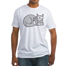 Gray/White ASL Kitty Shirt