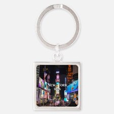 New York Square Keychain
