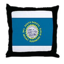 Beloved South Dakota Flag Mod Throw Pillow