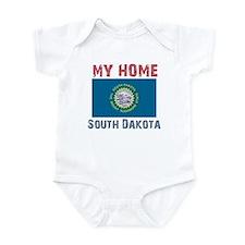 My Home South Dakota Vintage Infant Bodysuit