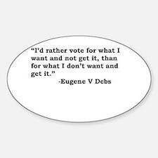 Eugene Debs Oval Decal