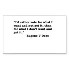 Eugene Debs Rectangle Decal