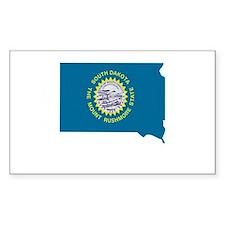 South Dakota Stripe Custom De Rectangle Decal