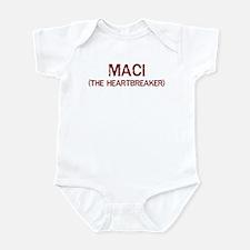 Maci the heartbreaker Infant Bodysuit