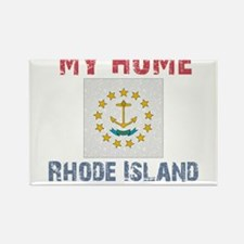 My Home Rhode Island Vintage Rectangle Magnet