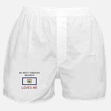 My West Virginia Grandpa Loves Me Boxer Shorts