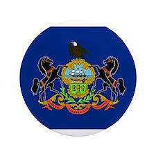 "Beloved Pennsylvania Flag Mod 3.5"" Button"