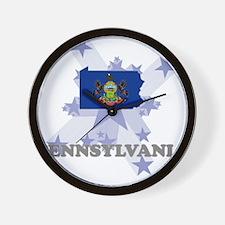 All Star Pennsylvania Wall Clock