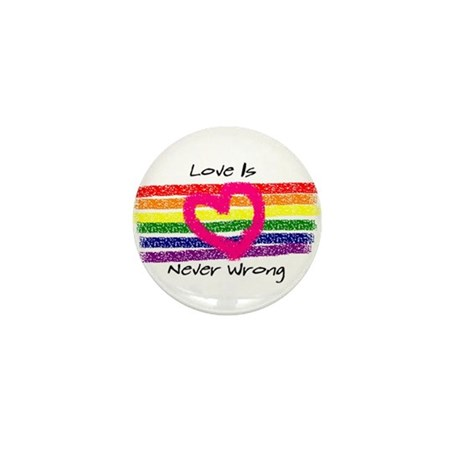 Love is never wrong button