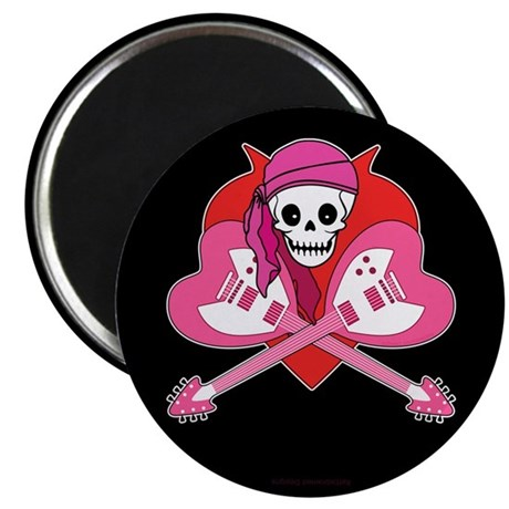 Heart Rock Skeleton Grrl Magnet