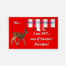 Christmas Reindeer Humorous Rectangle Magnet