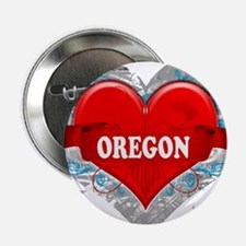 "My Heart Oregon Vector Style 2.25"" Button"
