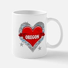 My Heart Oregon Vector Style Mug