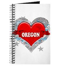 My Heart Oregon Vector Style Journal