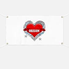 My Heart Oregon Vector Style Banner
