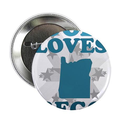 """God Loves Oregon 2.25"""" Button"""
