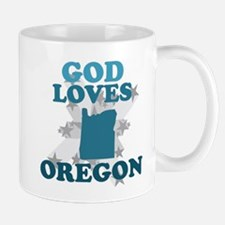 God Loves Oregon Mug