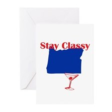 Stay Classy Oregon Greeting Cards (Pk of 20)