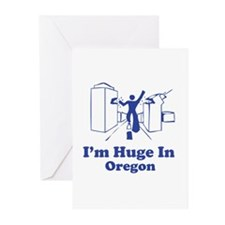 I'm Huge in Oregon Greeting Cards (Pk of 20)