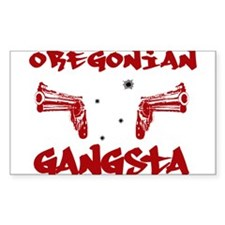Oregonian Gangsta Rectangle Decal