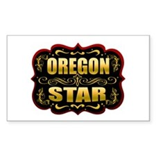 Oregon Star Gold Badge Seal Rectangle Decal