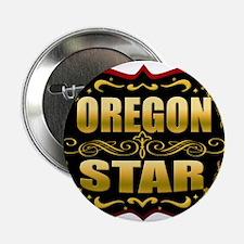 "Oregon Star Gold Badge Seal 2.25"" Button"