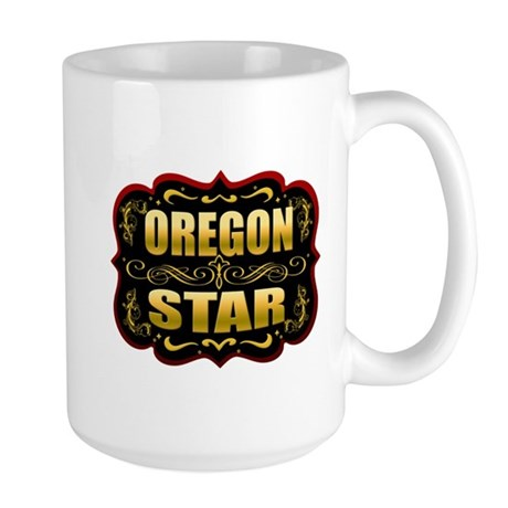 Oregon Star Gold Badge Seal Large Mug