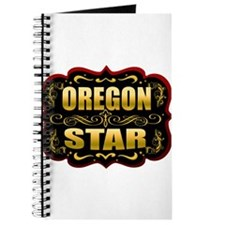 Oregon Star Gold Badge Seal Journal